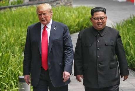 Trump promete convidar Kim para Casa Branca