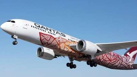 Qantas usa Dreamliner 787-9 para sua rota Perth-Londres.