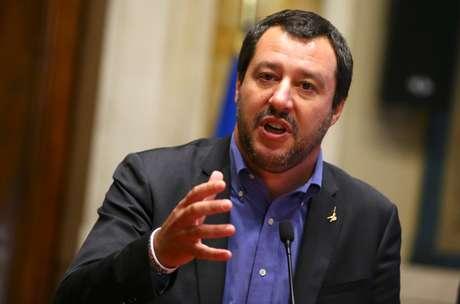 Ministro do Interior da Itália, Matteo Salvini, em Roma 24/05/2018 REUTERS/Tony Gentile