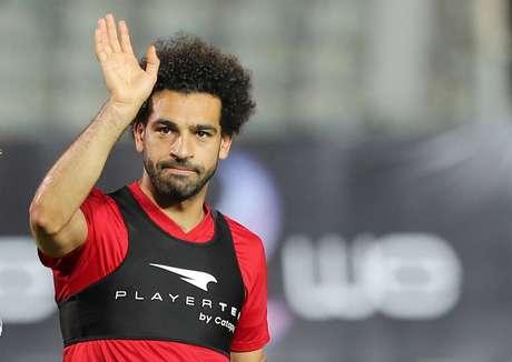 Salah acena em estádio no Cairo  9/6/2018    REUTERS/Mohamed Abd El Ghany