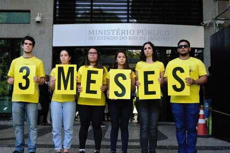 Anistia Internacional organizou ato em homenagem à vereadora em frente ao prédio do Ministério Publico