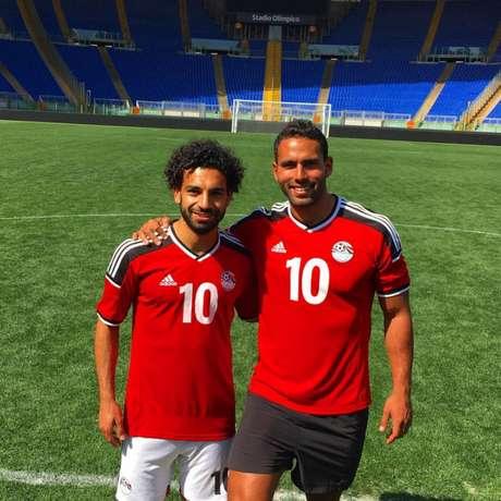 Salah (à esq.) é o grande craque do Egito (Reprodução/Instagram)