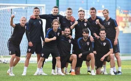 Jogadores da Croácia posam para foto na Rússia - FOTO: Divulgação