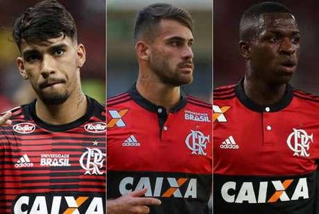 Trio de jovens do Flamengo é a grande aposta para derrotar o Palmeiras. Ele são responsáveis por 50% dos gols no Brasileiro (Lance!)