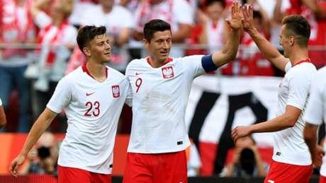 Polônia no último teste contra a Lituânia
