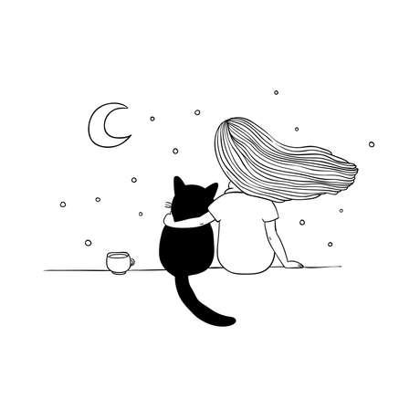 A menina, o gato e os encontros