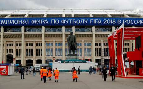Estádio Luzhniki, em Moscou, sediará a abertura do Mundial