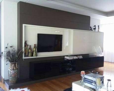 65 modelos de painel para tv que deixam qualquer sala linda for Sala design moderno