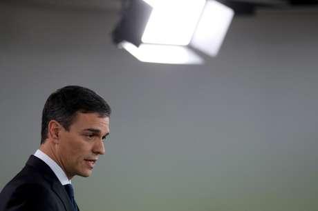 O primeiro-ministro da Espanha, Pedro Sanchez, anuncia novos membros de seu gabinete no Palácio Moncloa, em Madrid 06/06/2018 REUTERS/Susana Vera