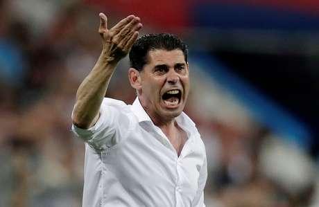 Hierro, durante partida contra Portugal 15/6/2018   REUTERS/Ueslei Marcelino