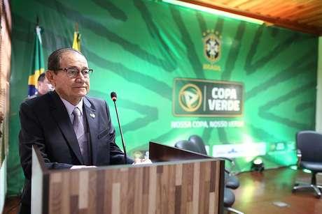 Antonio Nunes, atual presidente da CBF, em solenidade da CBF