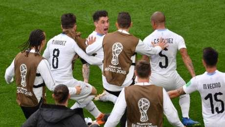 Gímenez fez o gol da vitória uruguaia