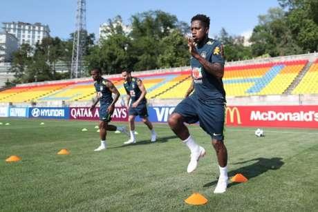 Fred sofreu um trauma no tornozelo direito e ainda não tem condições de jogo pela Seleção Brasileira