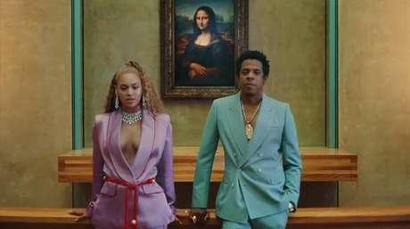Beyoncé e Jay-Z no clipe de 'Apeshit'
