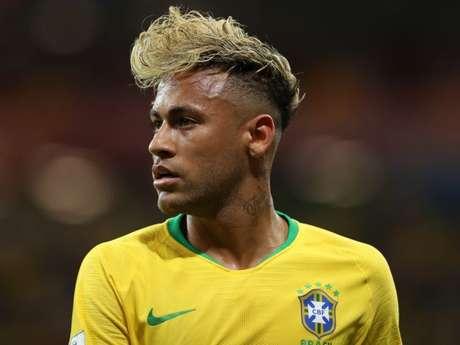 Neymar durante a estreia na Copa do Mundo de 2018 no domingo, dia 17 de junho de 2018