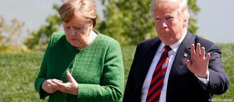 Merkel e Trump, durante a cúpula dos países do G7 no Canadá, em 8 de junho