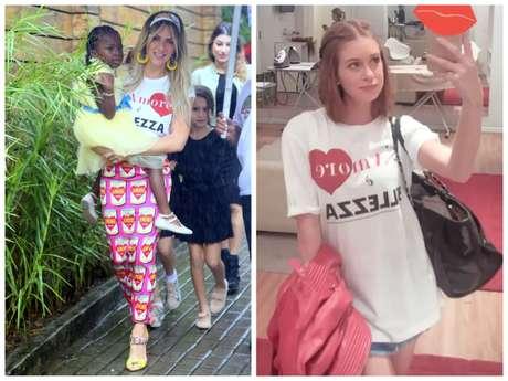 Giovanna Ewbank e Marina Ruy Barbosa vestem camiseta igual (Fotos: Anderson Borde/AgNews - @marinaruybarbosa/Instagram/Reprodução)