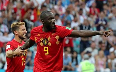 Lukaku comemora gol da Bélgica sobre o Panamá