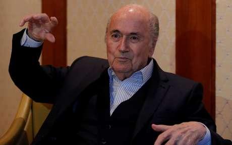 Blatter durante entrevista à Reuters em Zurique  10/4/2018    REUTERS/Arnd Wiegmann