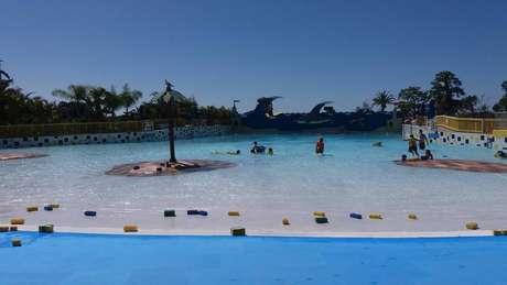 Além do parque de diversões, Legoland tem pequeno parque aquático