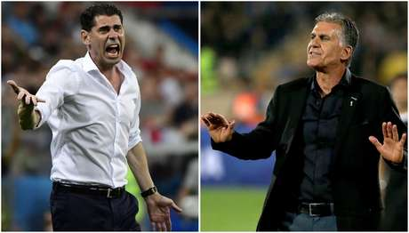 Hierro e Queiroz são os técnicos de Espanha e Irã, respectivamente (Foto: EMMANUEL DUNAND / AFP)