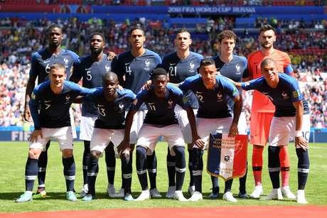 Seleção da França antes da estreia na Copa do Mundo de 2018