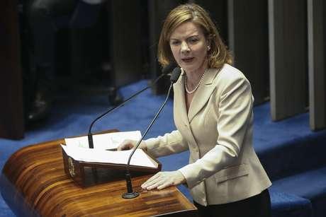 Senadora Gleisi Hoffman, presidente do PT