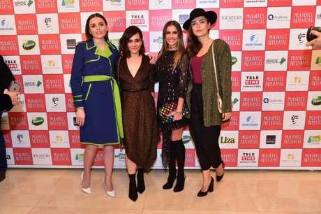 Monica Iozzi, Alessandra Negrtini, Deborah Secco e Maria Casadevall (Foto: Leo Franco/AgNews)