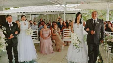 Matrimônio homoafetivo, como o de Anelise e Adrieli, foi autorizado pelo Supremo Tribunal Federal em 2011 e pelo CNJ em 2013