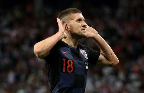 Rebic comemora gol da Croácia sobre a Argentina