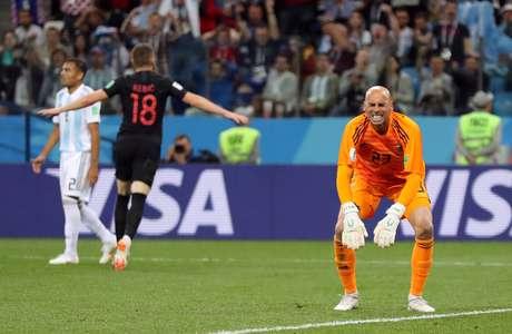 Caballero reage ao gol da Croácia