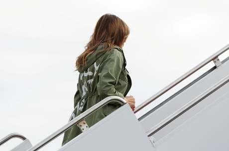 Melania Trump e sua jaqueta polêmica