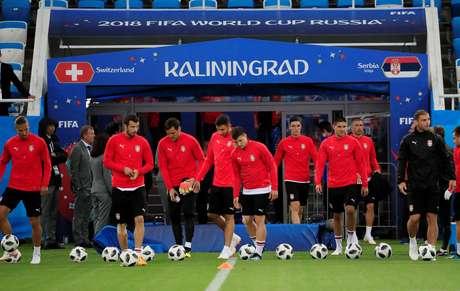 Seleção sérvia treina em Kaliningrado