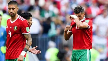 Marrocos atacou bastante, mas perdeu os seus dois primeiros jogos na Copa do Mundo e já está eliminado (AFP)