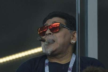 Ídolo mostrou intensa revolta pela forma como a Argentina perdeu por 3 a 0 para a Croácia (Juan Mabromata/AFP)