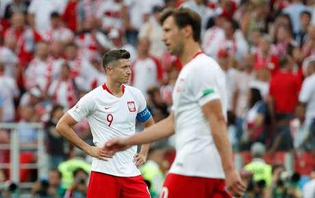 O atacante Robert Lewandowski, principal jogador da Polônia