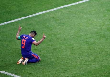 Falcao Garcia agradece aos céus pela vitória colombiana em cima da Polônia