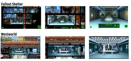 Comparação de telas dos dois jogos, segundo a acusação
