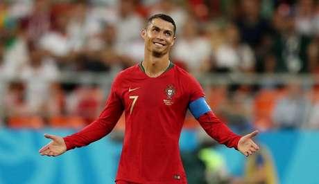 Cristiano Ronaldo durante jogo com Irã  25/6/2018      REUTERS/Ivan Alvarado