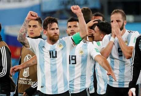 9faa1e3cf0 Jogadores da Argentina comemoram classificação 26 6 2018 REUTERS Jorge Silva