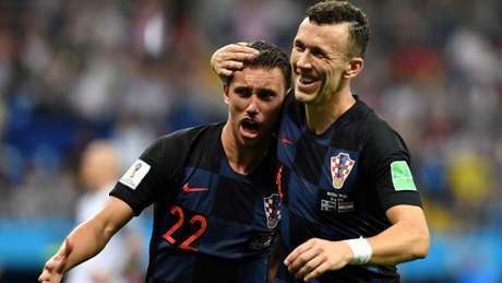 Perisic marcou o gol da vitória por 2 a 1 da Croácia sobre a Islândia nesta terça-feira, em Rostov (Foto: AFP)