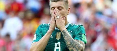 Toni Kroos durante o jogo da Alemanha contra a Coreia do Sul