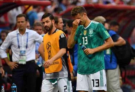 Alemanha é mais uma campeã a cair na fase de grupos da Copa seguinte ao título (Foto: SAEED KHAN / AFP)