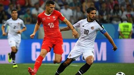 Empate em 2 a 2 fez justiça ao bom jogo entre Suíça e Costa Rica, pelo Grupo E da Copa do Mundo (Foto: AFP)