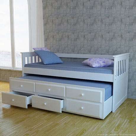 b5c33c6200 27 – Modelo de cama para quarto infantil com várias ...