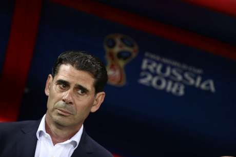 Técnico da seleção da Espanha, Fernando Hierro 20/06/2018 REUTERS/Sergio Perez