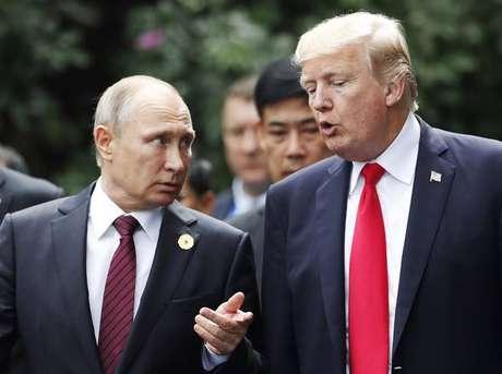 Trump e Putin terão encontro oficial dia 16, em Helsinki