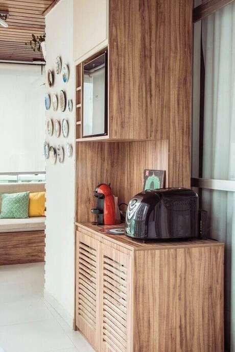 31 – Cantinho do café para varanda gourmet.
