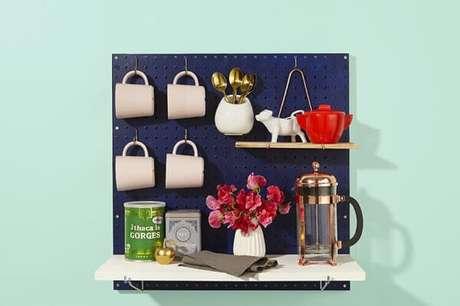 13 – Cantinho do café simples para espaços pequenos.