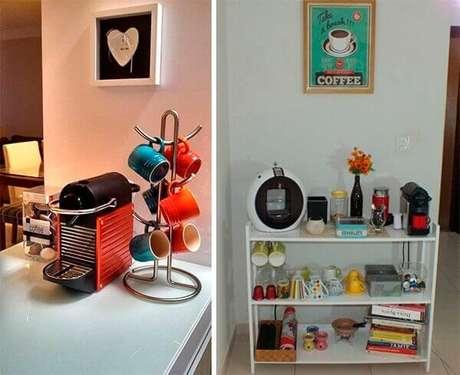 12 – Cantinhos simples para café.